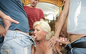 Free MILF Gangbang Porn Pictures